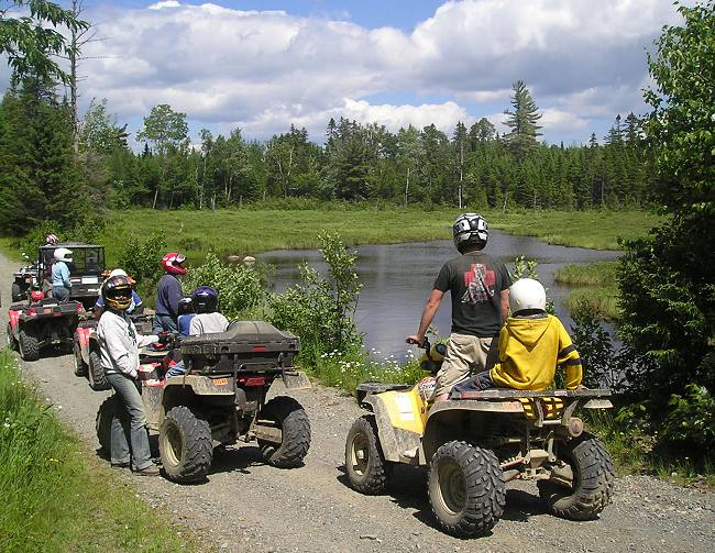 ATV trail riding in Kokadjo