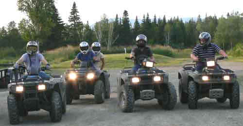 ATV Trail Riding in Kokadjo, Maine
