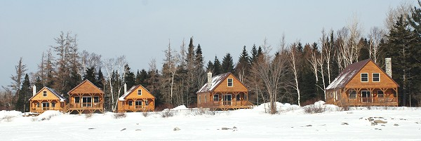 Waterfront vacation cabin rentals in Kokadjo, Maine