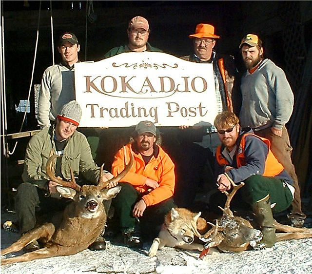 Hunters at Kokadjo Trading Post