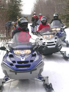 Snowmobiling in Kokadjo