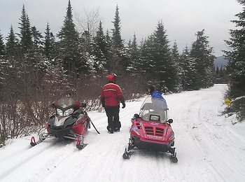 Kokadjo snowmobile trail